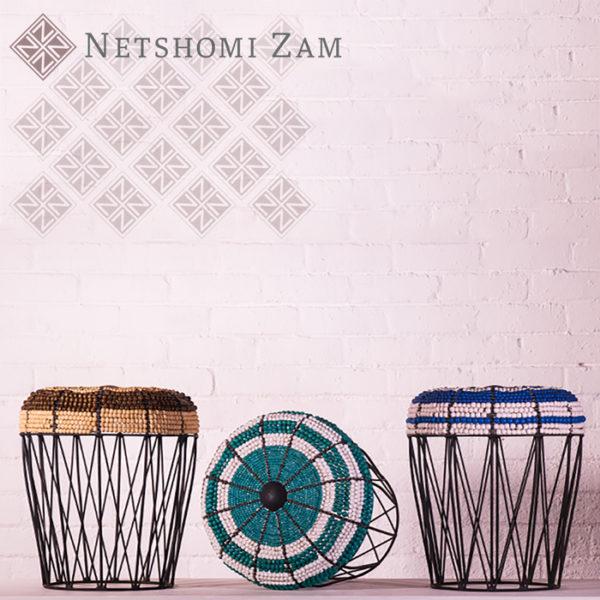Netshomi Zam African Beadwork - Beaded Furniture Chair