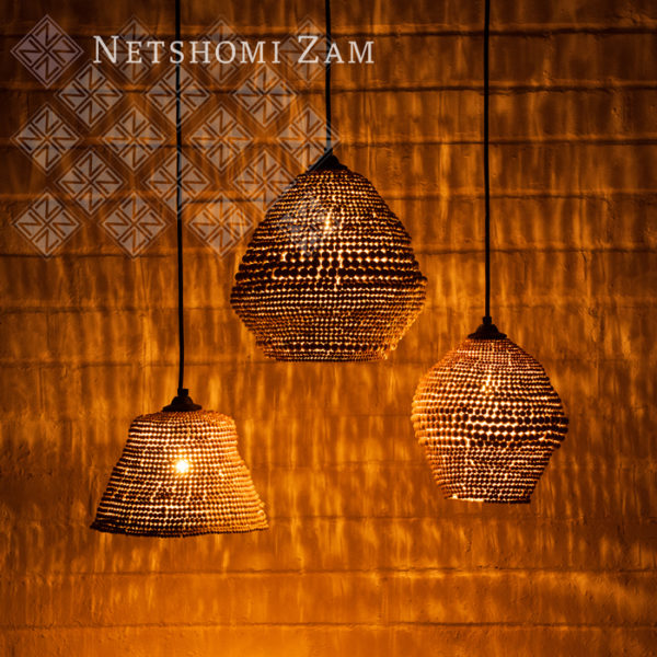 Netshomi Zam African Beadwork - Beaded Art Lampshade