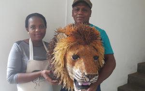 Netshomi Zam African Beadwork - Gallery Image African Wire Art Animal Showcase