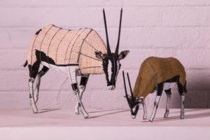Netshomi Zam African Beadwork - Streetwires Beaded Animal Sculpture Oryx